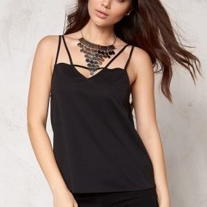 Make Way Jasmine Singlet Black