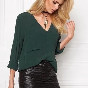 Make Way Juno Blouse Dark green