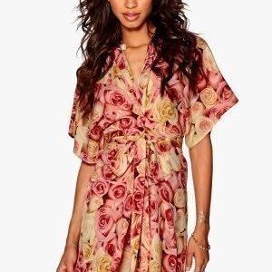 Make Way Karmen Kimono Dress Pink / Yellow / Floral