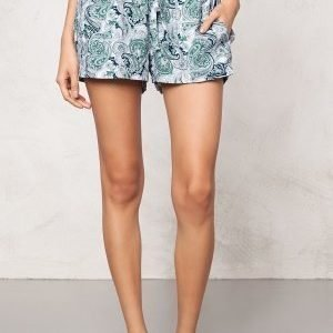 Make Way Keira Shorts Green / Blue / Paisley