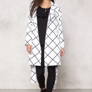 Make Way Naemi Trenchcoat White / Black / Checked