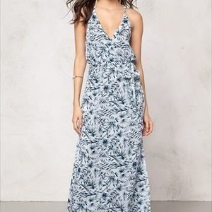 Make Way Nicole Dress White / Blue / Patterned