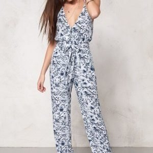 Make Way Nicole Jumpsuit White / Blue / Patterned
