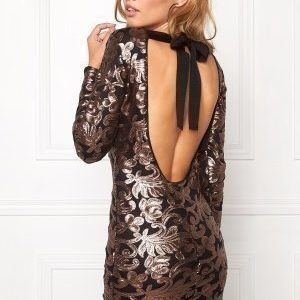 Make Way Noelle Dress Black / Copper