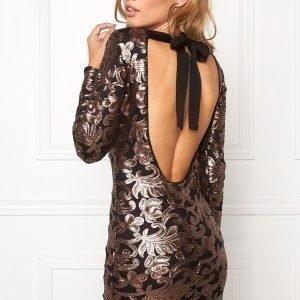 Make Way Noelle Dress Black / Copper