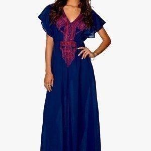 Make Way Sanchez Maxi Dress Blue / Pink