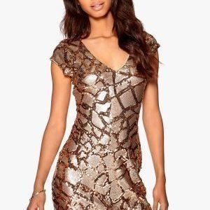 Make Way Shea Dress Gold / Brown