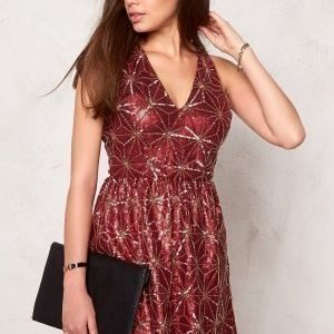 Make Way Tory Dress Dark red / Gold