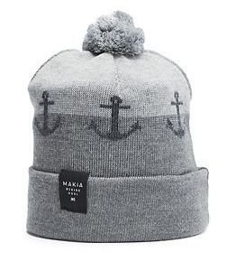 Makia Anchor Cap Grey