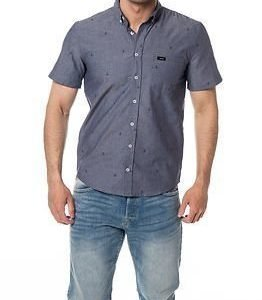 Makia Anchors S/S Shirt Blue