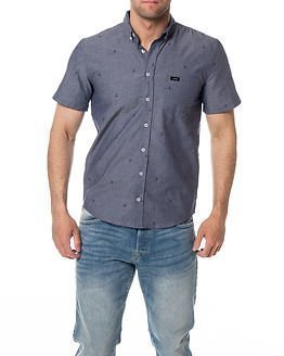 Makia Anchors S/S Shirt Blue