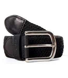 Makia Braided Canvas Belt Black