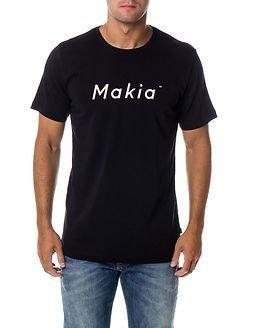 Makia Italic T-shirt Black