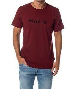 Makia Italic T-shirt Burgundy
