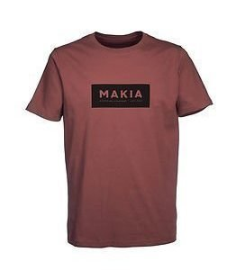 Makia Label T-shirt Burgundy