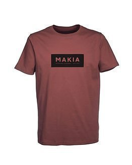 Makia Label T-shirt Burgundy