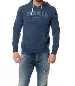 Makia Makia Hooded Sweatshirt Washed Indigo