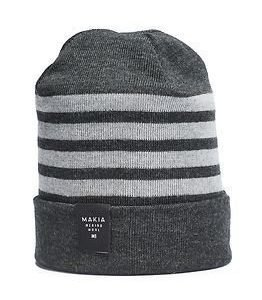 Makia Merino Stripe Cap Grey