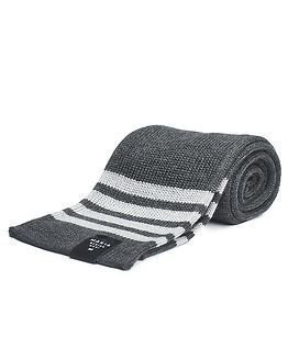 Makia Merino Stripe Scarf Grey