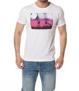 Makia Purple Crane T-Shirt White