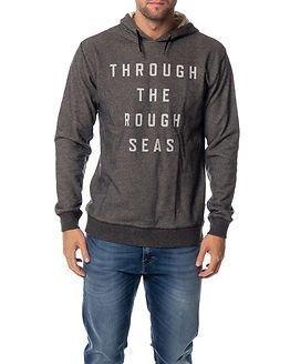Makia Rough Seas Hooded Sweatshirt Grey
