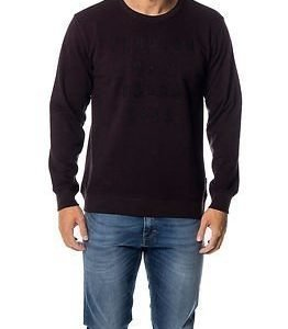 Makia Rough Seas Sweat Black/Burgundy