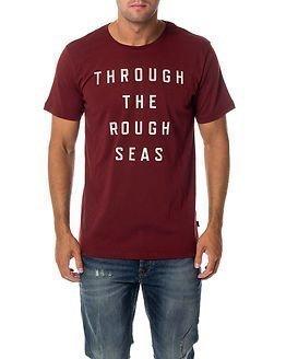 Makia Rough Seas T-Shirt Burgundy