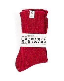 Makia Tar Wool Socks Burgundy