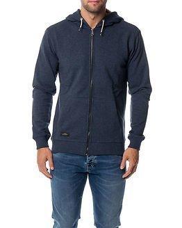 Makia Zip Hooded Sweatshirt Blue
