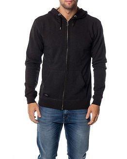 Makia Zip Hooded Sweatshirt Grey
