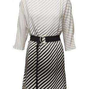 Mango Belt Striped Dress mekko