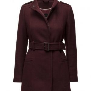 Mango Belt Wool Coat villakangastakki