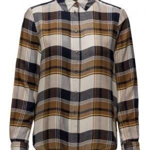 Mango Check Blouse pitkähihainen paita