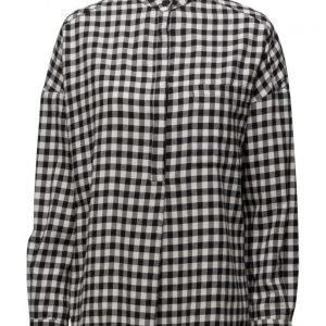 Mango Check Cotton Shirt pitkähihainen paita