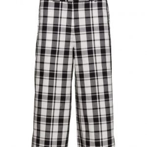 Mango Check Cotton Trousers casual housut