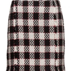 Mango Check Tweed Skirt lyhyt hame