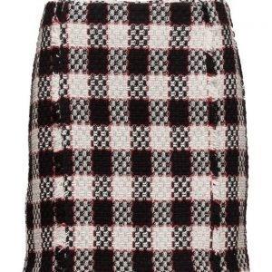 Mango Check Tweed Skirt lyhyt hame