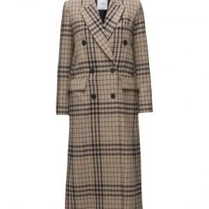 Mango Check Wool-Blend Coat villakangastakki