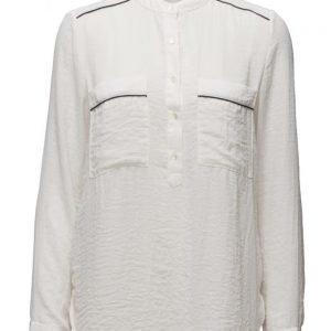 Mango Chest-Pocket Flowy Blouse pitkähihainen paita