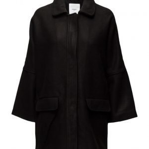 Mango Cocoon Wool-Blend Coat villakangastakki