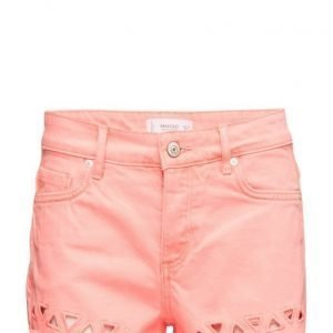 Mango Color Denim Shorts farkkushortsit
