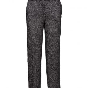 Mango Cotton Wool-Blend Trousers leveälahkeiset housut
