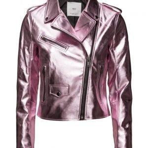Mango Crystals Metallic Jacket kevyt takki