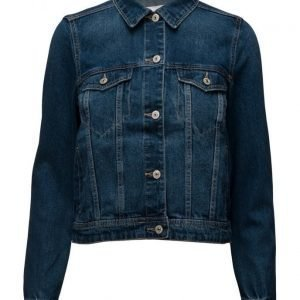 Mango Dark Denim Jacket farkkutakki