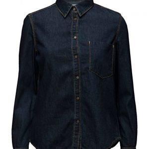 Mango Dark Denim Shirt pitkähihainen paita