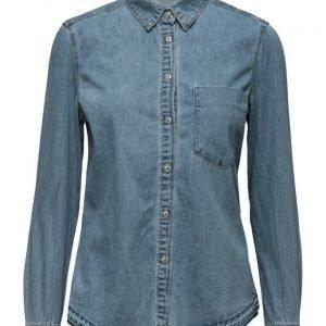 Mango Denim Shirt pitkähihainen paita