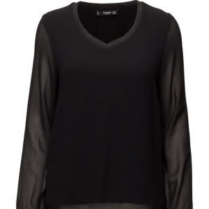Mango Double-Layer Blouse pitkähihainen pusero