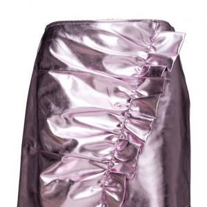 Mango Drapped Metallic Skirt lyhyt hame