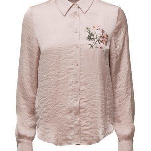 Mango Embroidered Shirt pitkähihainen paita