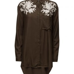 Mango Embroidered Shirt tunikka